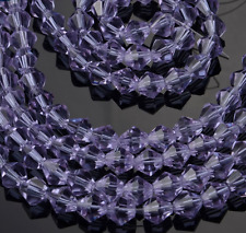 50pcs Crystal violet exquisite Glass Crystal 6mm Bicone Beads loose beads