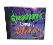 """VINTAGE 90's Goosebumps """"Sounds Of Halloween"""" CD ~ Classic 1996 Sound Effects"""