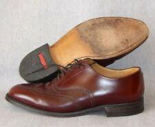 Zapatos De Cuero Grenson Perth Para Hombre UK 7.5 G Cuero Calado Marrón Bronceado