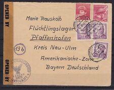 Tschechoslowakei ZENSUR Brief nach Pfaffenhofen/Krs. Neu-Ulm, 1946