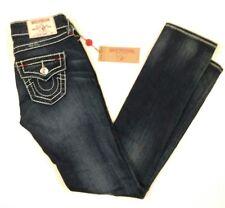 True Religion slim straight size 26 flap pockets distressed MSRP $282
