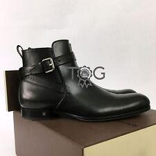 $1000 Louis Vuitton Men LV Black Leather Borough Shoes Ankle Boots Size UK8 42