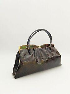 Vintage classic 1950s Kelly handbag, Made in England, Kelly bag