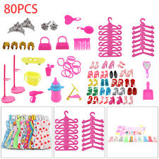 BARBIE DOLL DRESSES, SHOES,JEWELLERY CLOTHES SET ACCESSORIES UK
