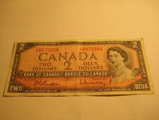 007 - 1954 - Canada $2 bill - Canadian two dollar - JU0075364 James Bond