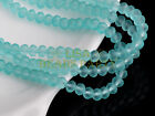 100pcs 4mm Faceted Rondelle Loose Spacer Crystal Glass Beads Charms Lake Blue