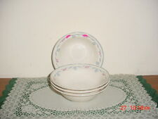 "4-PC NEWCOR ""BLUE RIBBON"" 7"" SALAD-SOUP BOWLS /BY VICTORIA/6026/AS IS/FREE SHIP!"