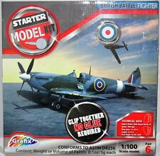 Grafix WWII Airplane Model 1:100 British Battle Fighter Plane Model Kit
