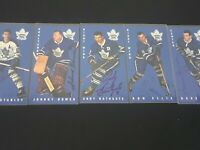 Autographed Toronto Maple Leafs 64-65 Parkhurst Tall Boys Reprint Team Set 0f 5