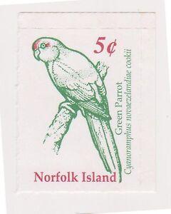 (OY-84) 2002 Norfolk Island 5c green parrot SB/3 MUH (A)