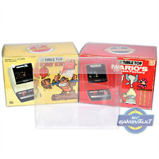 10 Box Protectors for Nintendo Game & Watch Table Top 0.5mm Plastic Display Case
