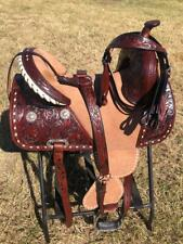 "Western Treeless Horse Saddle Brown - 14"", 15"", 16"""