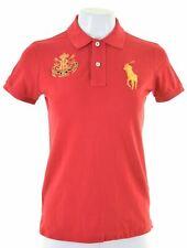 RALPH LAUREN Womens Polo Shirt Size 12 Medium Red Cotton  IM15