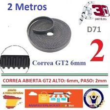 2 Mts Correa Dentada Abierta GT2 de 6 mm y 16mm Alto  3D RepRap Prusa ESPAÑA D71