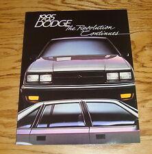 Original 1985 Dodge Car & Truck Full Line Sales Brochure 85 Ram Shelby Charger
