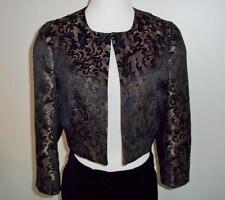 Ann Taylor Loft Black & Gold Cropped Jacket Sz 8