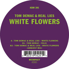 """Tom Demac & Real Lies : White Flowers VINYL 12"""" EP (2018) ***NEW*** Great Value"""