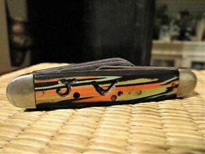 "Vintage Winchester Folding Pocket Knife 3 3/8"" 3 Blade 3 Pin U.S.A."