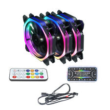 XT-XINTE120mm RGB Color Case Fans 11--Blade Quiet Computer Cooling PC Fans