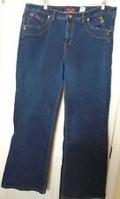 Baby Phat Jeans sz 20 stretch denim plus size dark wash embroidered pocket