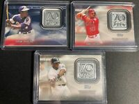 2021 Topps Series1 MIKE TROUT HANK AARON FRANK THOMAS 70th Anniversary Patch Lot