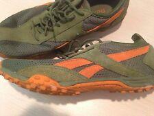 Womens Reebok Distance Track Shoes Green/Orange Size 8