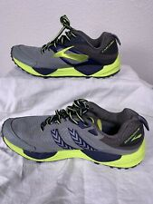 New listing Brooks Cascadia 12 Trail Running Shoes Gray Black Lime Men's Size 8