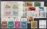 Berlin Jahrgang  1969 postfrisch , mit Block 2 und Blockeinzelmarken,