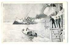 """Russian Imperial Navy Wreck of """"Varyag"""" View from French Cruiser Pascal PC 1904"""