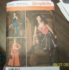Simplicity Ladies Costumes #2851 Sz HH 6,8,1012 Dresses,Petticoat Veil,/Belt New