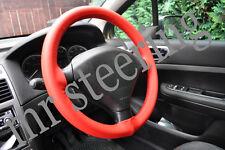 Para Peugeot 307 Rojo Cuero Real cubierta del volante 2001-2008