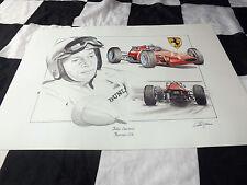 Ferrari 158 John Surtees F1 GP 205B 1964 Nuevo Retrato Pintura Impresión Arte Dugan