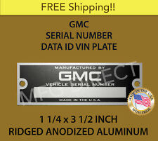 NEW BLANK GMC SERIAL NUMBER TAG DATA PLATE TRUCK SUBURBAN ID VIN IDENTIFICATION