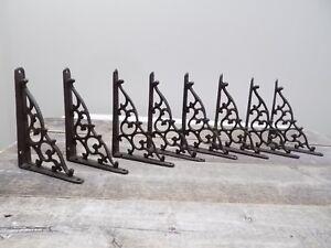 8 Antique Style Shelf Brace Wall Bracket Cast Iron Brackets Vine Garden Corbels