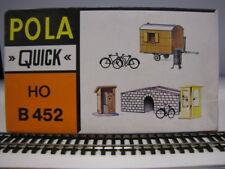 POLA QUICK B452 scala H0 ponticello, bagno, cabina telefonica, biciclette, stufa