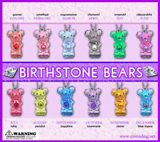 Vending Machine $0.50/$0.75 Capsule Toys - Birthstone Bear Keychains
