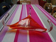 Verrerie de Boussu, Cristabel, MB Boussu, grand plat en verre étiré, coupe