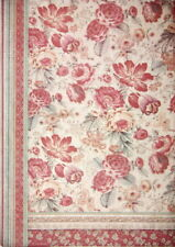 Rice Paper for Decoupage Sheet A/3 Red Flowers