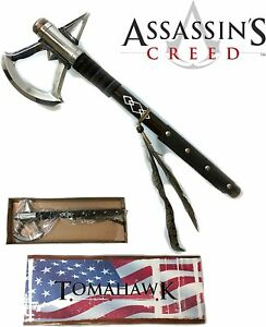 "NEW Assassin's Creed III Connor's Tomahawk Metal Battle Axe 17.5"""