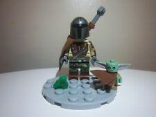 STAR WARS The Mandalorian & Child BABY YODA Minifigure + Lego Frog FREE SHIPPING