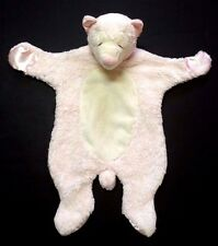 Douglas Sshlumpie Cuddlers pink ivory bear closed eyes Baby Security Blanket Toy