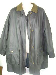 Orvis Men Corduroy Collar Cotton Barn Jacket Raincoat XL Lined