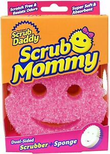 SCRUB DADDY MOMMY DUAL SCRUBBER AND SPONGE SCRATCH FREE PINK-UK