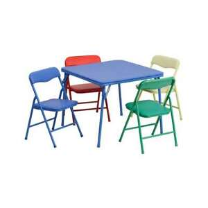 Flash Furniture Kids Colorful 5 Piece Folding Table And Chair Set [JB-9-KID-GG]