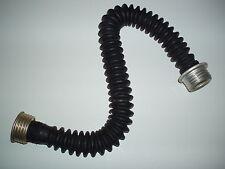 Gummi gasmaskenschlauch Latex Gasmaske Faltenschlauch ca 60 cm Schwarz Schlauch