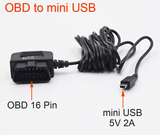 Car Charger OBD DC Converter Module 12V 24V To 5V 2A with mini USB Cable
