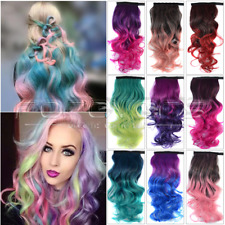 New Ombre Clip In Pony Tail Hair Extension Women Wrap Around Ponytail Accessory