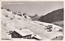 Carte postale ancienne SUISSE SCHWEIZ MORGINS et le Grand Muveran timbrée
