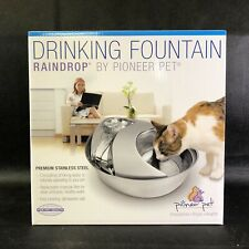 Pioneer RAINDROP Stainless Steel Pet Drinking Fountain Dog Cat NEW FREE SHIP!