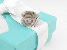 Tiffany & Co Silver Firm Mesh Ring Band Size 10 Box Included